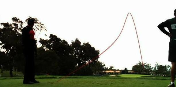 Protracer Image of Tiger Woods at the Buick Invitational - Hole 11